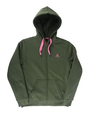 Picture of Navitas Women's Lily Green and Pink Sherpa Zip Hoddie