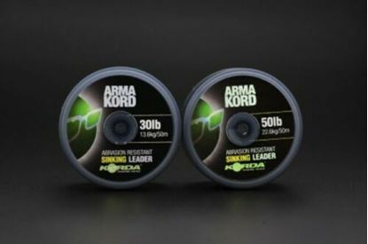 Picture of Korda Arma - Kord Sinking Braided Shock - Snag Leader