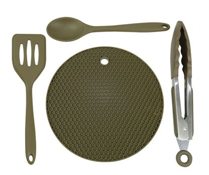 Picture of Trakker Armolife 4 pcs Silicone Utensil Set